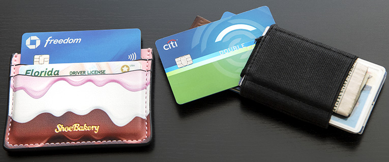 Photo of credit cards in wallets